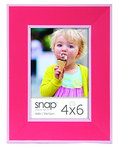 Snap 4x6 Pink with White Inner and Outer Border Wood Tableto