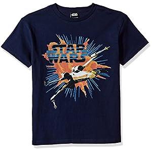 Star Wars Boys' Big X-Wing Explode Logo Graphic Tee