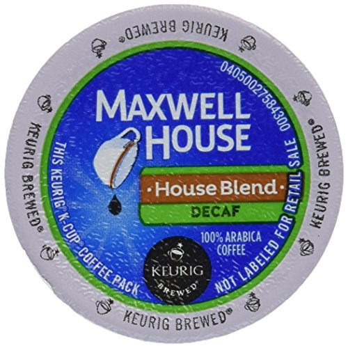 Maxwell House Cafe Collection Decaf House Blend 100% Arabica Coffee K-cup®, 36 Count