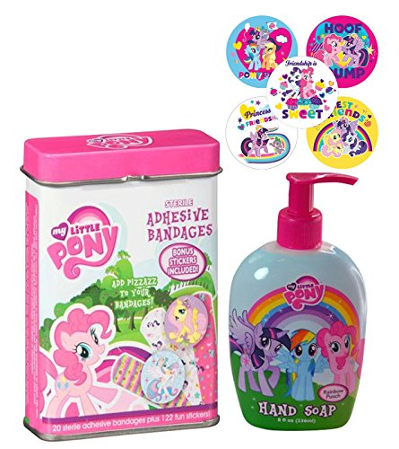 Safety FirstMy Little Pony Band-Aids With Moisturizing Rainbow Punch Scented Hand Soap! Plus Bonus POsitive Reinforcement (Scented Pony)