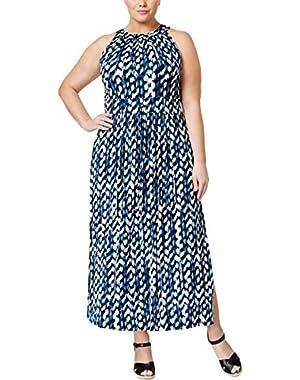 Calvin Klein Womens Plus Jersey Sleeveless Maxi Dress