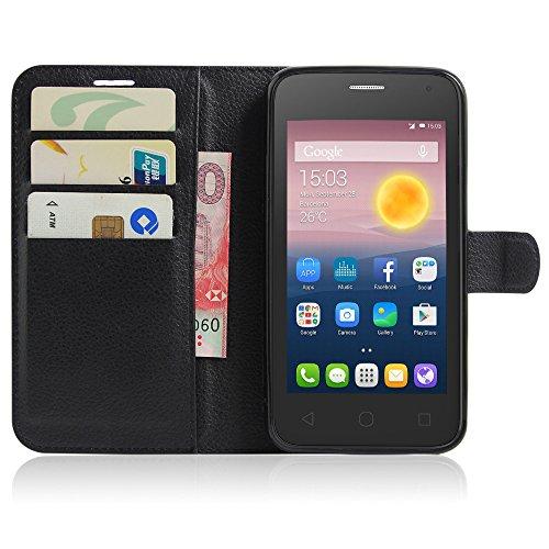 OFU® Para Alcatel pixi 4(5) OT5010D Funda,Dual Layer PC And TPU Hybrid Card Carry Pocket Wallet Slot,Cartera Cuero Funda de Piel Wallet Case para Alcatel pixi 4(5) OT5010D Carcasa Flip Case Cover con