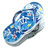 Welcome to the Islands Acrylic Beach Slipper Magnet Clip Honu Turtle Floral