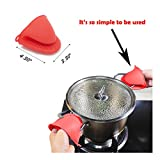 Expandable Silicone Hot Pads Trivet Mats And Oven Mitts Multipurpose Heat Resistant Kitchen Tool (2PCS Black Hot Pads, 1Pair Oven Mini Mitts)