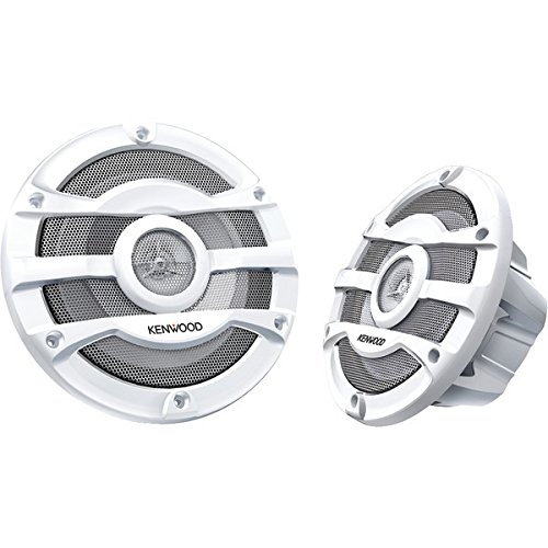 2) Kenwood 8 Inch 300 Watt Powersports/Marine Boat White Speakers | KFC-2053MRW 250w 2 Way Marine