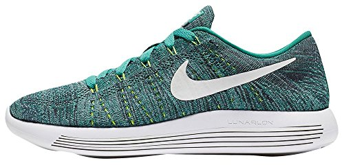 Chaussure De Course À Pied Bas Flyknit Nike Womens Clear Jade / Ocean Fog