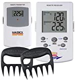 Maverick Wireless Barbecue Thermometer - White ET73 - Includes Bear Paws Meat Handlers - Holiday Gifts