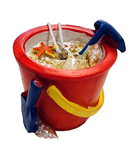 Beach Bucket with Shovel Ornament