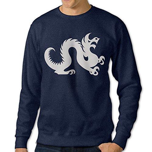 ALIPAPA Men's Long Sleeve Drexel Dragon Logo University Hoodies - Navy Size L