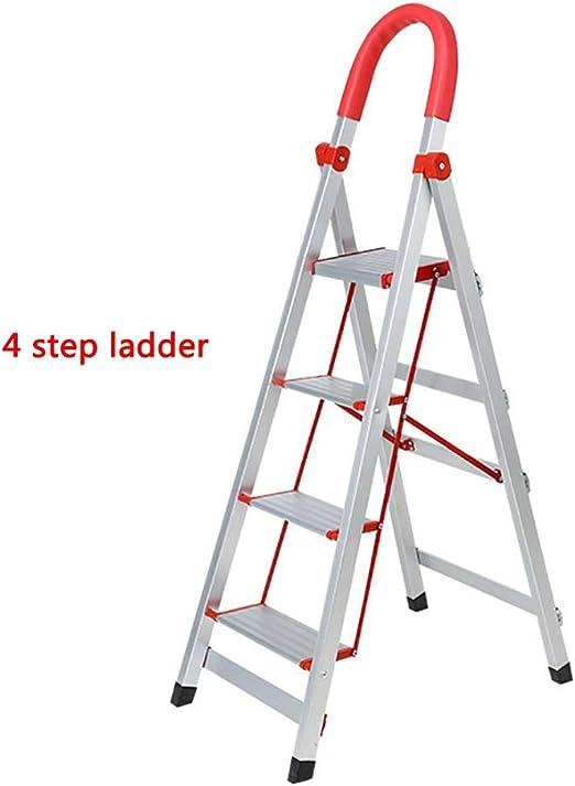 HEUFHU888 Escalera Plegable - Escalera de casa 3/4/5 Escalera de Tijera Escalera de pie Escalera de Aluminio (Color : 4 Tiers): Amazon.es: Hogar