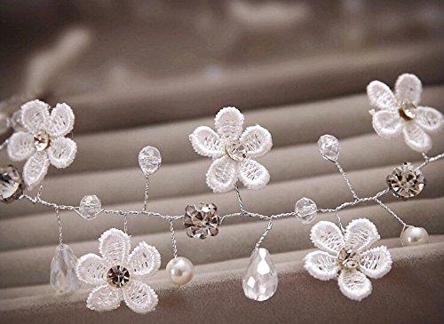 Crystal-Diamond-Bride-Bridal-Wedding-Hair-Head-Band-Wear-Pearl-Rhinestone-Jewelry-Headdress-Headband-Tiara-Coronal-Chain-by-Carinloing