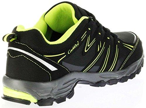 ConWay Outdoor-Trekking Schuhe Black Green Softshell CONTEX Damen Herren Lars Grün