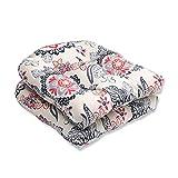 Cheap Pillow Perfect Outdoor/Indoor Tilt & Twirl Ebony Wicker Seat Cushion (Set of 2)