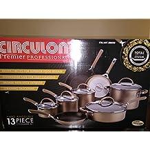 Circulon Circulon Premier Professional 13-piece Hard-anodized Cookware Set Bronze Exterior Stainless Steel Base by Circulon
