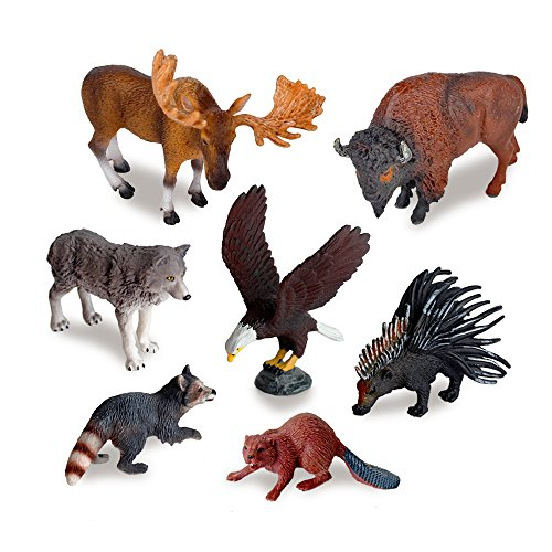 (Ericoo Animal Toys Set Educational Resource Reallistic High Simulation North American Animals Figures with CPC Approval and ASTM Test -Anim006)