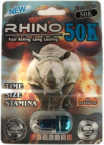 Rhino 50K Extreme Men Sexual Supplement Enhancement 5 Pills Pack