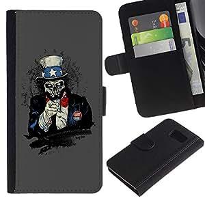 EJOY---La carpeta del tirón la caja de cuero de alta calidad de la PU Caso protector / Samsung Galaxy S6 / --I Wan Usted Zombie