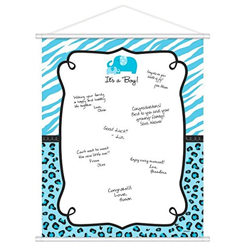 Sweet Safari Boy Baby Shower Party Sign-In Sheet Decoration Supply,24