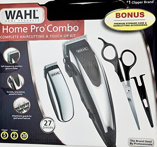 WAHL Home Pro Combo Complete Haircutting & Touch-Up Detail Kit, 27 Pieces by Wahl