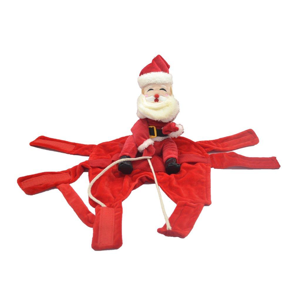 Amazon.com: nacoco Disfraces de navidad perro Santa Claus ...