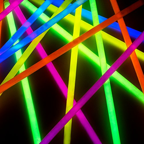 Glow Sticks Bulk Party Favors 400pk - 8'' Glow in the Dark Party Supplies, Light Sticks Neon Party Glow Necklaces and Bracelets for Kids or Adults by PartySticks (Image #3)