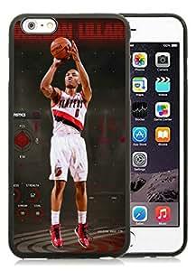 New Custom Design Cover Case For iPhone 6 Plus 5.5 Inch Portland Trail Blazers damian lillard 7 Black Phone Case