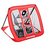 ANCHEER Portable Golf Chipping Net,Foldable Pop-Up Golf Practice Net with Target