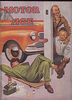 MOTOR AGE Robson Indianapolis Buick Willys Jeep 6 1946 Harry C Bradley cover art