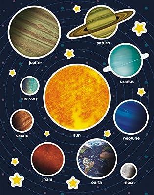APLI Kids - Bolsa de gomets, 12 hojas, Sistema solar: Amazon.es ...
