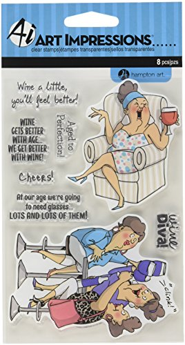 Hampton Art SC0677 Art Impressions People clear Rubber Stamps 4