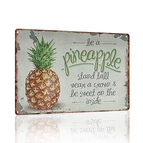 Joyingle Vintage Tin Signs Be A Pineapple 8X12Inch ()