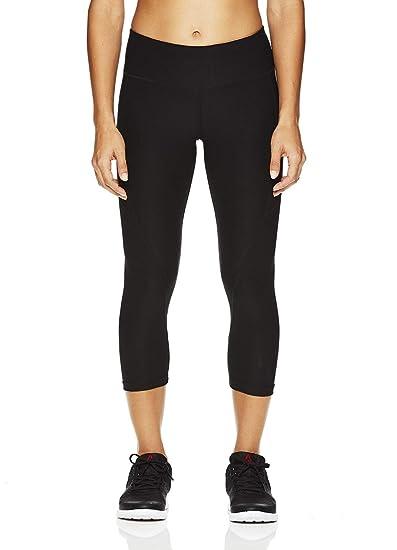 98a3c4e460bba Amazon.com: Reebok Women's Printed Capri Leggings With Mid-Rise ...