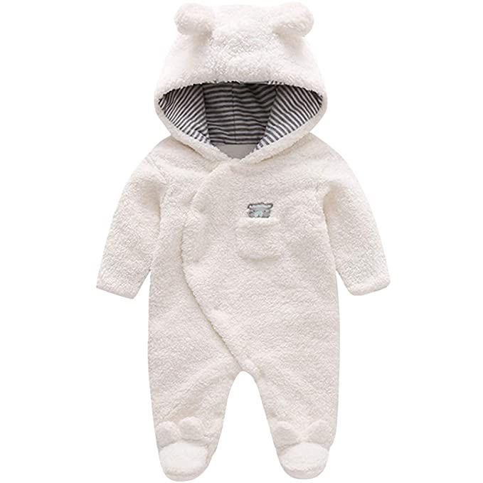 b9e92f105 Zilee Mameluco Caliente con Capucha Infantil - Mono de Manga Larga para  Niños al Aire Libre