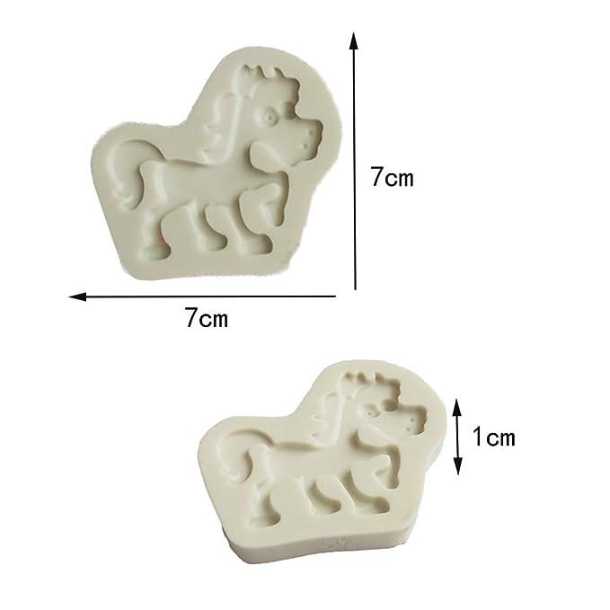 IPOTCH 4 Pcs Molde Animal Líquido de Chocolate Torta Silicona para Decoración de Pasteles: Amazon.es: Hogar