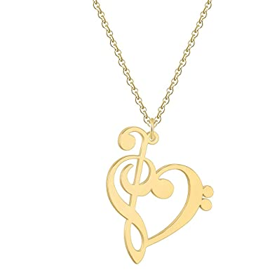 Amazon com: Eiffy Music Note Heart of Treble and Bass Clef