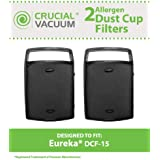 2 Style DCF-15 Filters for Eureka 5890, 5900 series vacuums; Compare to Eureka Part Nos. 62733; Designed & Engineered by Think Crucial