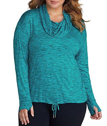 Calvin Klein Performance Space Dye T-Shirt Plus Size, 2X, Capri Breeze