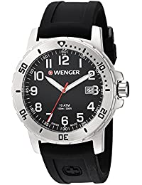 Men's 'Off Road' Swiss Quartz Stainless Steel and Silicone Casual Watch, Color Black (Model: 01.1341.102)