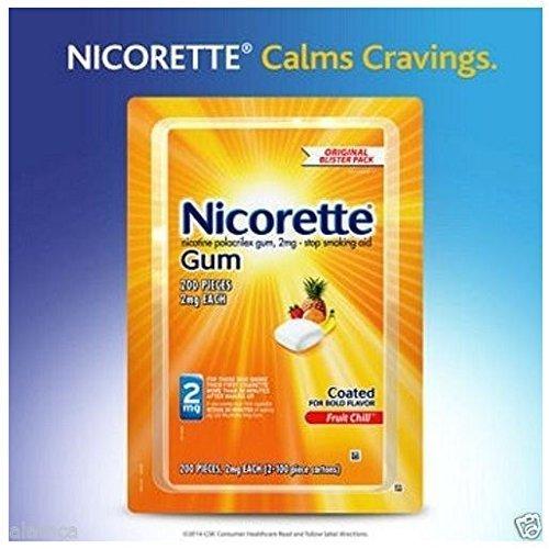 Fruit Chill Flavor - Nicorette Gum, Fruit Chill Flavor, 2 mg, 200 Count