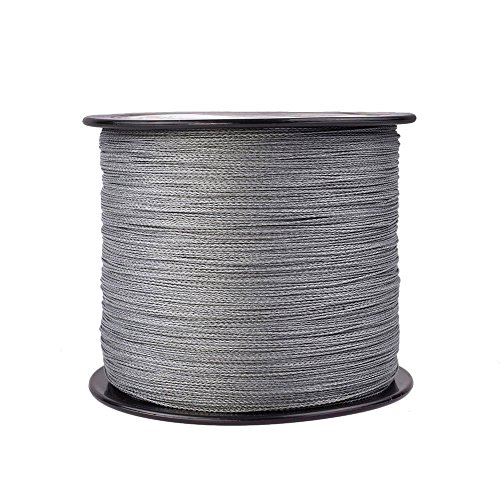 Hercules Braided Fishing Line 2000m 2187yds 6lbs-100lbs Pe Dyneema Superline 4 Strands (Grey 80lb/36.3kg 0.48mm) Review