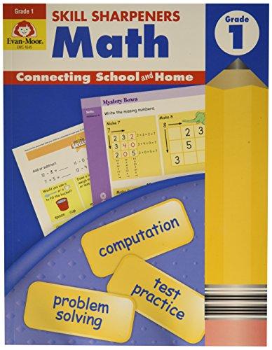 Books 1st Grade Math (EVAN-MOOR 4545 Skill Sharpeners Math Book, Grade 1, 0.5