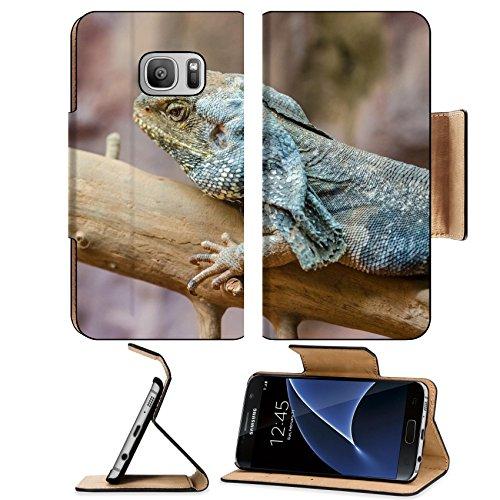 MSD Premium Samsung Galaxy S7 Flip Pu Leather Wallet Case IMAGE 20988032 Frilled Lizard