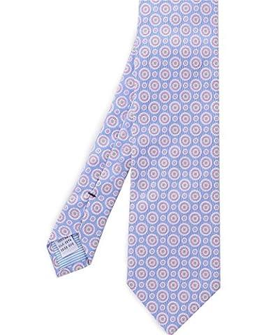 Stenstroms Men's Silk Circle Print Tie Blue One Size - Circle Print Tie