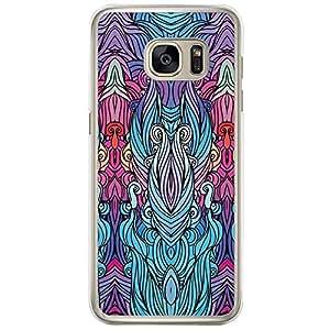 Loud Universe Samsung Galaxy S7 Edge Hair Hair 12 Printed Transparent Edge Case - Multi Color