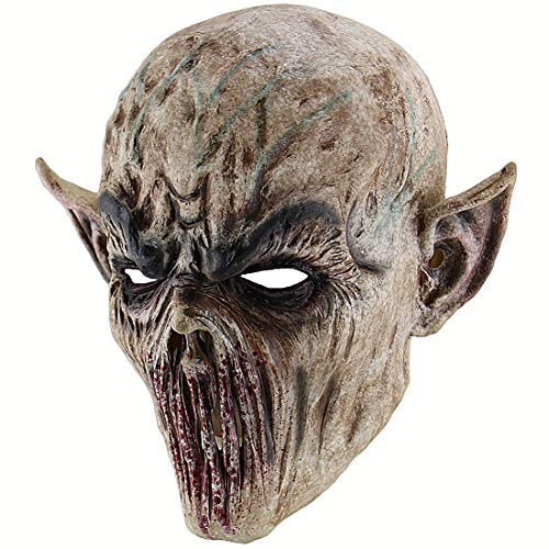 Xiao Chou Ri Ji Cosplay Scary Halloween Costume Party Props Bloody Zombie Fork Monster Mask