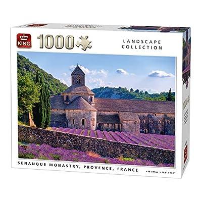 King 5663 Senanque Monastry Provence France Puzzle Da Pezzi 68 X 49 Cm