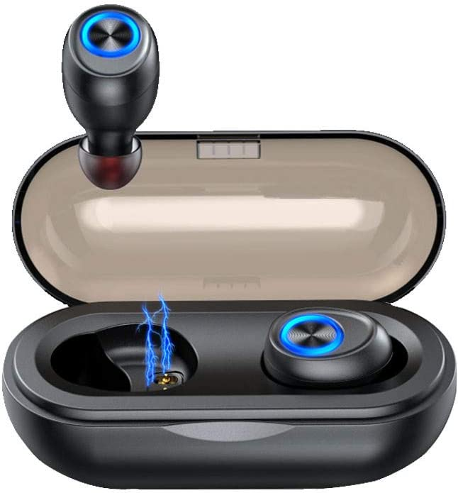 Ciyoon 2019 10A for TWS Bluetooth 5.0 Earbuds Headphones for IPX6 Waterproof Wireless Charging Case