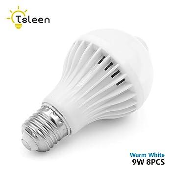 Bombilla LED de 9 W con sensor de movimiento, E26/E27 AC85-265
