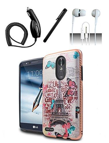 hot sale online 4c98a fa18c Amazon.com: LG Stylo 3 / LG Stylo 3 Plus Case [Shoparound168] Paris ...