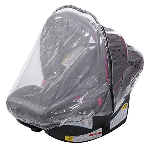 Infant Carrier Car Seat Rain & Weather Sheild Cover 2-In-1, Plastic & (Infant Plastic Baby Carrier)